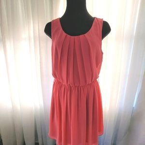 BY & BY CORAL DRESS SIZE L